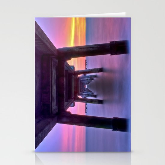 Deal Pier at Sunrise Stationery Card