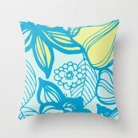 Oceanic Floral  Throw Pillow