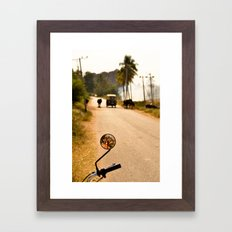Hampi road Framed Art Print