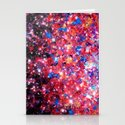WRAPPED IN STARLIGHT Bold Colorful Abstract Acrylic Painting Galaxy Stars Pink Red Purple Ombre Sky Stationery Cards