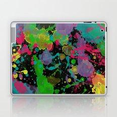 Paint Splatter on Black Background Laptop & iPad Skin