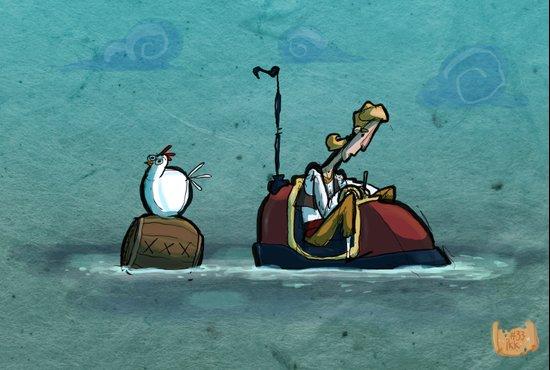 Use Verb on Noun #33: Curse of Monkey Island Art Print