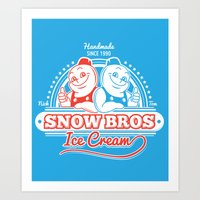 Snow Bros Ice Cream Art Print