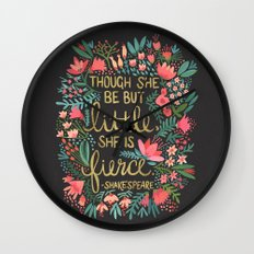 Little & Fierce On Charc… Wall Clock