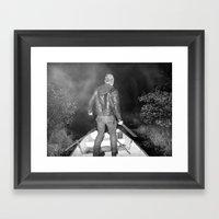 Black Lake Adventure Framed Art Print