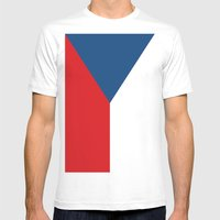 Flag of Czech Republic Mens Fitted Tee White SMALL