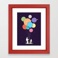 You Are My Universe (fat… Framed Art Print