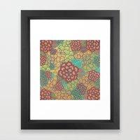 Floral Glitz Framed Art Print