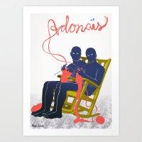 Art Print featuring Adonais by Mexican Zebra