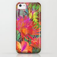 iPhone 5c Cases featuring flowers and words in bright colors by clemm