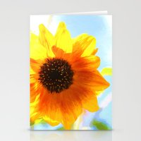 single sunflower Stationery Cards