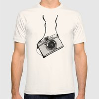 White Moodie Lomo Mens Fitted Tee Natural SMALL
