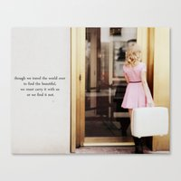 pretty in pink one Canvas Print