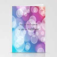 Charisma Bokeh Stationery Cards