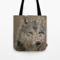 Wolf Head Tote Bag