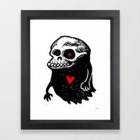 Freddy, the loving Skullghost Framed Art Print