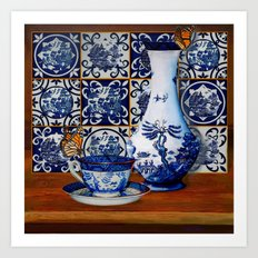 Blue Willow Stillife Art Print