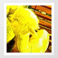 Amarillo Animal Art Print