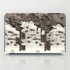 Building at Night with the Moon iPad Case