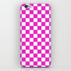 Checker (Hot Magenta/White) iPhone & iPod Skin