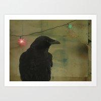 Dark Crow Celebration Art Print
