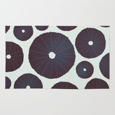 Sea's Design - Urchin Skeleton (Black) Rug