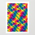 Hexagonized Art Print