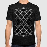 PS Grid 45 Black Mens Fitted Tee Tri-Black SMALL