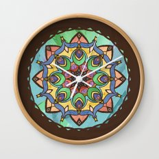 Silk and Sand Mandala Wall Clock
