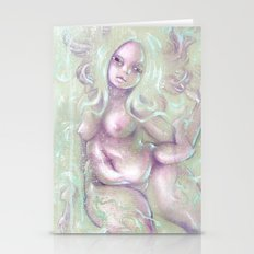 Axolotl Girl Stationery Cards