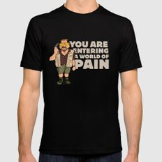 A World of Pain SMALL Black Mens Fitted Tee