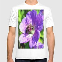 Honey Bee Mens Fitted Tee White SMALL
