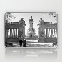 Couple At Madrid Monumen… Laptop & iPad Skin