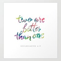 Ecclesiastes 4:9 Art Print