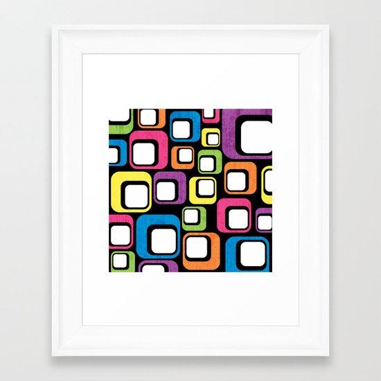 Retro All Sorts. Framed Art Print