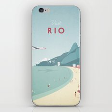 Vintage Rio Travel Poster iPhone & iPod Skin