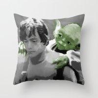 Luke Skywalker & Yoda Throw Pillow
