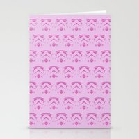 Troops In Pink Stationery Cards
