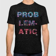 PROBLEMATIC Mens Fitted Tee Tri-Black SMALL