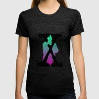 Mulder X Aliens Womens Fitted Tee Tri-Black SMALL