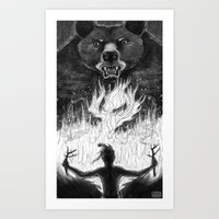 The Passing Of Fire From… Art Print