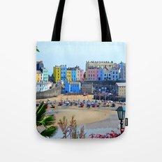 Tenby Harbour.Colour.Reflection. Tote Bag