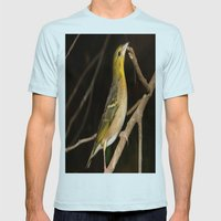Yellow Birdy Mens Fitted Tee Light Blue SMALL