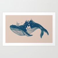 Home (A Whale from Home) Art Print