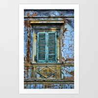 Vintage Windows Art Print