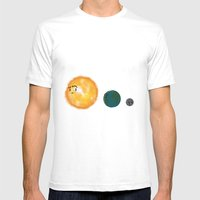 Moonzoned Mens Fitted Tee White SMALL