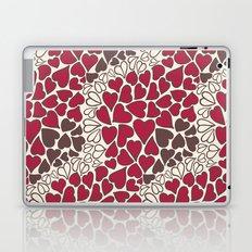 HEARTS  ~  CRIMSON, CLEAR, BROWN Laptop & iPad Skin
