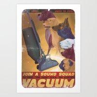 Sound Squad Anti-Vacuum … Art Print