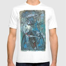 exiled archangels SMALL White Mens Fitted Tee