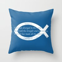 Diverged Throw Pillow